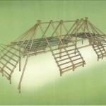 IJzertijdboerderij als houten speeltoestel Oss