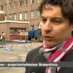 Schoorsteen oude behangfabriek Rijen ontmanteld