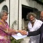 Cheque voor restauratie stoomgemaal Aquoi