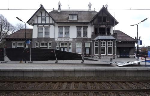 Station Voerendaal na de brand. Foto via Mootz.nl