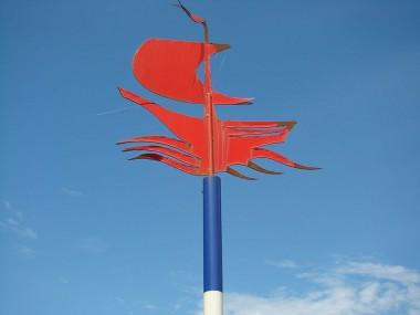 Markering Scheepswrak Flevoland. Afb via wikimedia
