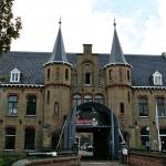 Deel oude gevangenismuur Blokhuispoort ingestort