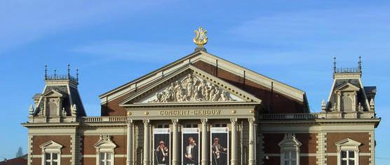 Concertgebouw Amsterdam. Foto: Hans-Peter Harmsen via wikimedia