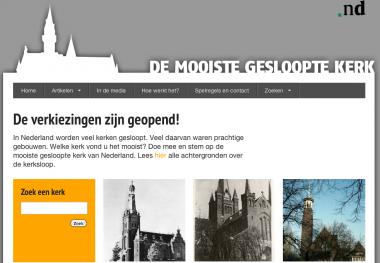 Beeldcitaat website www.demooistgeslooptekerk.nl