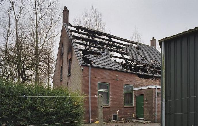 Brandschade monumentaal woonhuis. Foto: Rce via wikimedia