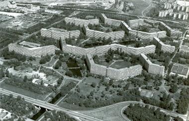 De Bijlmer jaren 60/70. Foto: Dienst stadsontwikkeling Amsterdam