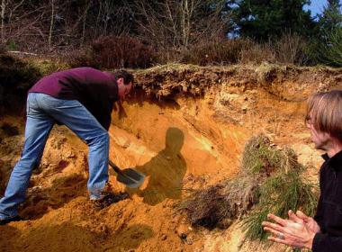Archeologie in de praktijk Foto: Sjoerd Kluiving via wikimedia