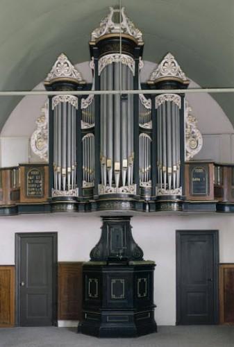Orgel op originele locatie in Jinsum. Foto Paul van Galen / Kris Roderburg RCE