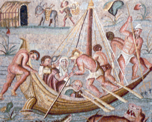 Afbeelding Romeins schip. National Museum of Wales ( Cardiff )