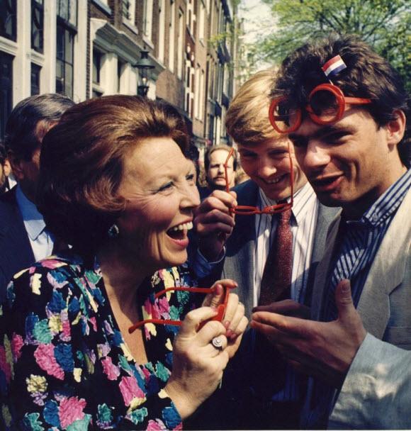 Amsterdam, 30 april 1988. ANP Historisch Archief