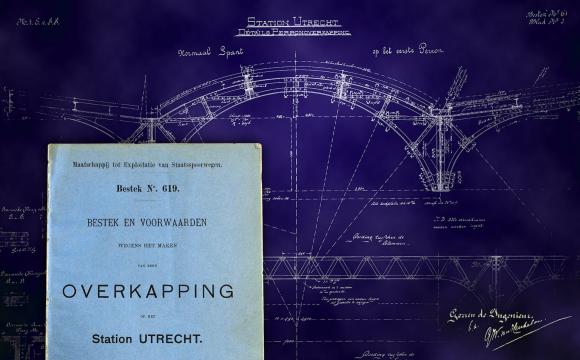 Bestek en blauwdruk uit 1893, ondertekend Van Heukelom