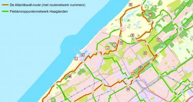 De Atlantikwall-route. Afb. via fietseninhaaglanden.nl