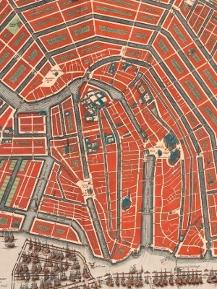 Plattegrond amsterdam (detail) uit de Atlas der Neerlanden via uva.nl