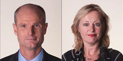 Minister Blok (Wonen en Rijksdienst, L) en minister Bussemaker (OCW)