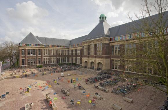 Voorgevel universiteitsgebouw (foto gemeente Delft)