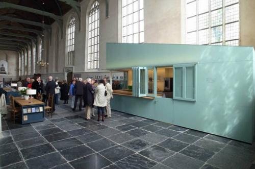 Keuken in Grote Kerk Monnickendam. Foto Bergblick Interior Design, http://www.bergblick.nl