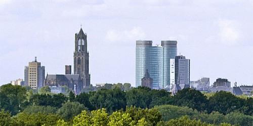De skyline van de stad utrecht foto: Rene van Maarsseveen via wikimedia