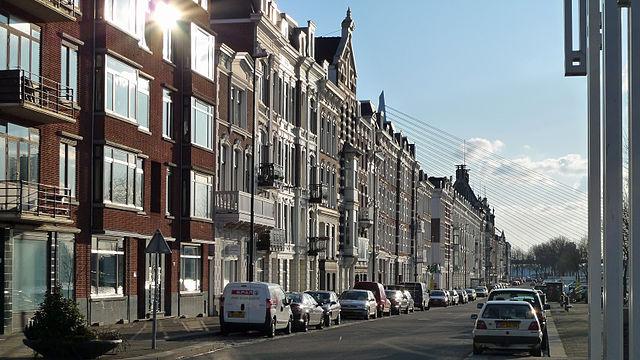de Maaskade op het Noordereiland in Rotterdam - foto: Arco Ardon via Wikimedia