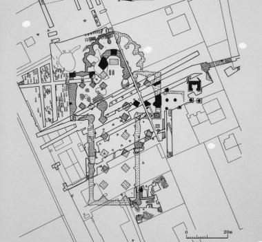 Archeologische sporen klooster Aduard. Afb: RCE via wikimedia