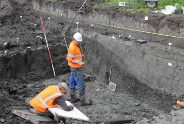 Opgraving Leiderdorp. Foto: www.cultureelerfgoed.nl