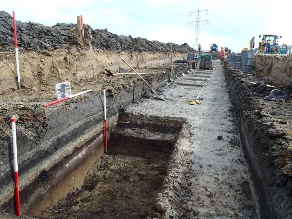 Eerdere opgraving aan de Drietorensweg in maart 2013. Foto: RAAP
