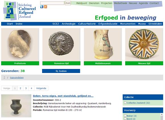 Website van de Stichting Cultureel Erfgoed Zeeland