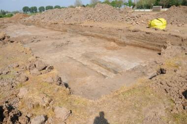 De opgraving in Leuth foto: Henk Baron
