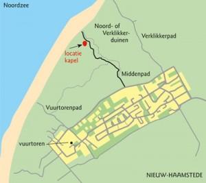 Locatie van verdwenen kapel. Beeld: koersopzeeland.nl