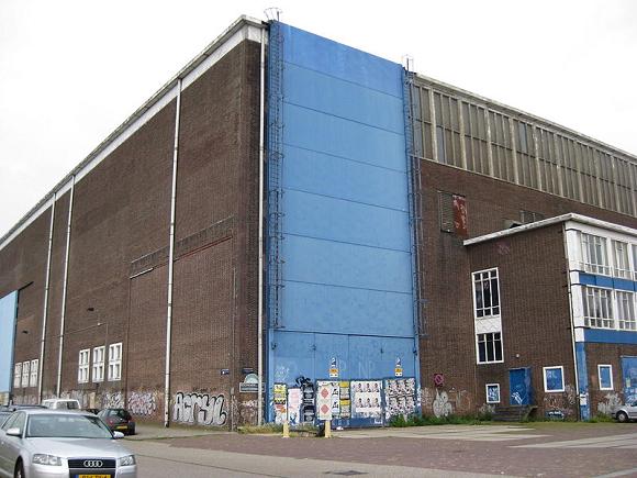 Lasloods NDSM-werf in Amsterdam