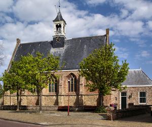 Pelgrimskerk in Vrouwenpolder foto: Arend041 via Wikimedia CC-BY-SA 3.0