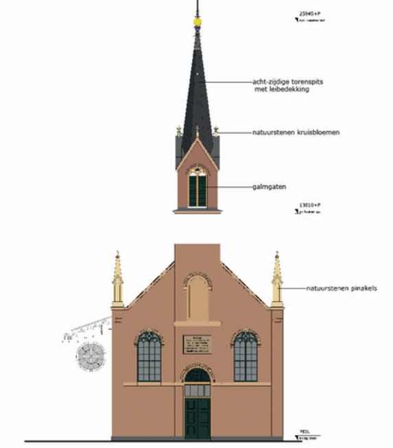Restauratie en reconstructie toren R.K. St. Michaël Kerk te Blokker