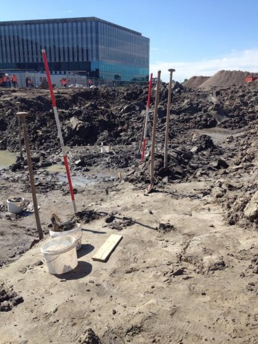 archeologische opgraving bij Leiden foto: Erfgoedstem