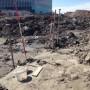 Archeologisch spitten in grond Schagerbrug