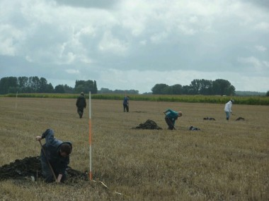Opgraving Enkhuizen foto: Universiteit Leiden / bronstijdwestfriesland.nl