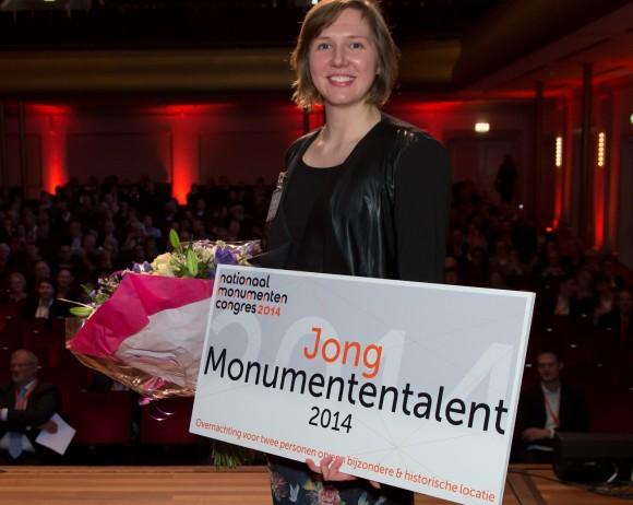 Belle van den Berg, Monumententalent 2014. Foto: Joost Enkelaar