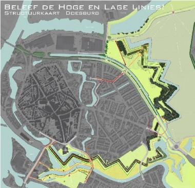 Structuurplan Linies Doesburg Foto: via doesburg.nl