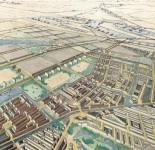Vogelvlucht Westelijke Tuinsteden, behorend bij het AUP van Amsterdam uit 1934 van Cornelis van Eesteren