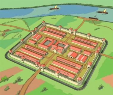 3D reconstructie fort Vechten door Tempelman bron: Limeswiki