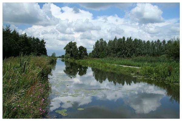 De Schalkwijksewetering Onderdeel van de Nieuwe Hollandse Waterlinie te Schalkwijk.Foto: Jan dijkstra