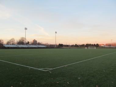 een voetbalveld foto: Wikimedia Commons