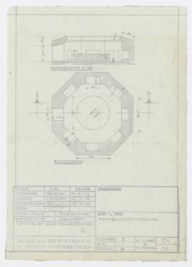Tekening bunker Foto: Nationaal Archief, Den Haag, Ministerie van Defensie: 2e Geniecommandement Bureau Registratie Verdedigingswerken (Bunkerarchief), nummer toegang 2.13.167, inventarisnummer 681