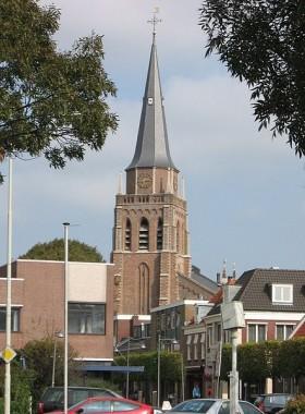 centrum van Voorschoten in de buurt van de vindplaats foto: Michiel 1972 via Wikimedia Commons