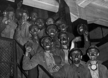 Mijnwerkers in Limburg in 1946 foto: Nationaal Archief