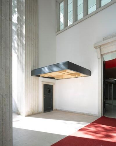 Duitse paviljoen,  ingang hoek. Foto: Bas Princen.