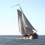Oudste vissersschip terug in haven Den Oever