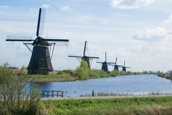 Molens op de Zuid-Hollandse Kinderdijk