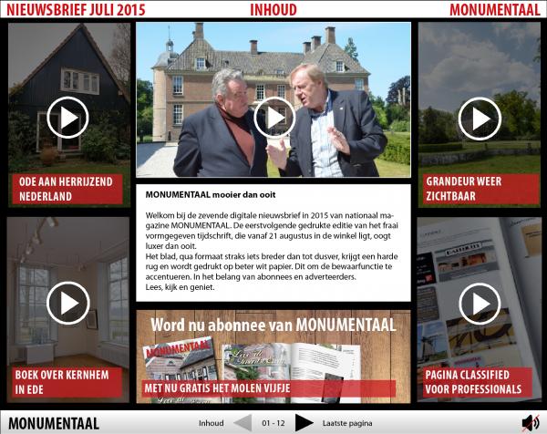 Digitale nieuwsbrief Monumentaal