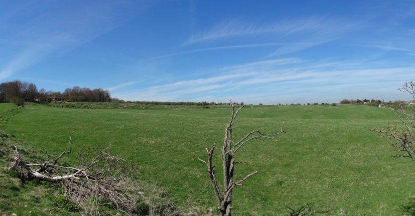 Durington Walls, het gebied waar de 'superhenge' aangetroffen is.  foto: R. Driver via Wikimedia Commons
