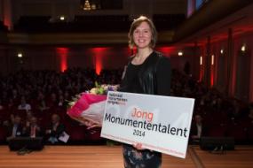 Belle van den Berg, winnaar Jong Monumententalent 2014. Foto: Jos Enkelaar via RCE
