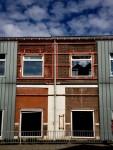 Gevel voormalige Polaroidfabriek, Enschede Foto: Ben Lensink/ De Twentsche Courant Tubantia